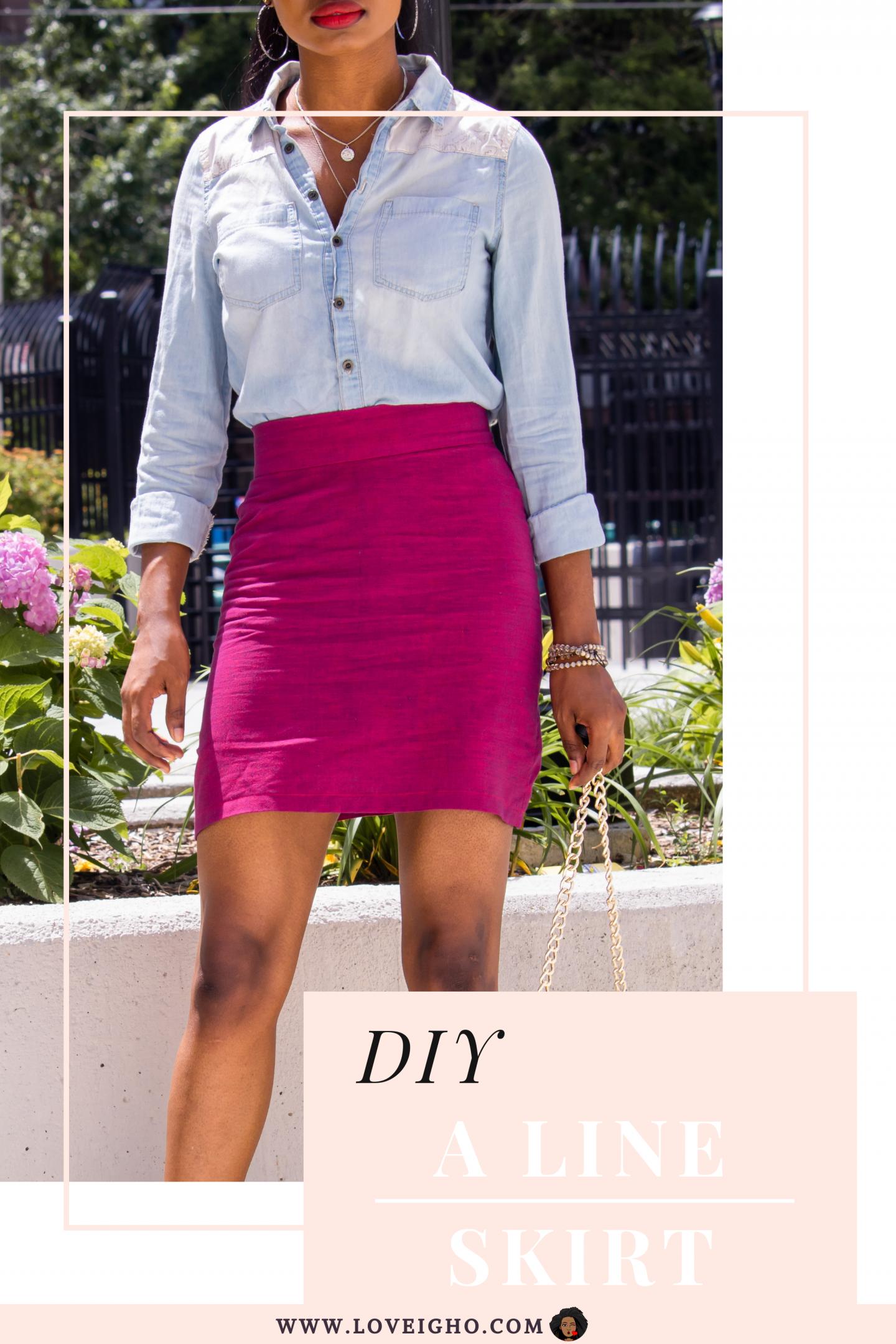 DIY A-Line SKIRT | Pin | Love Igho