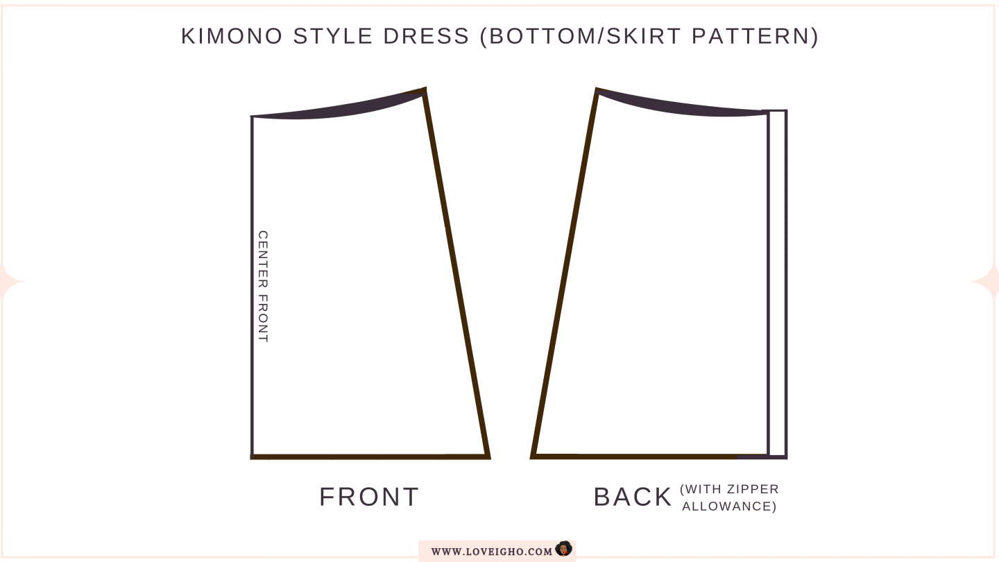 Red Kimono Style Dress | Pattern | Love Igho
