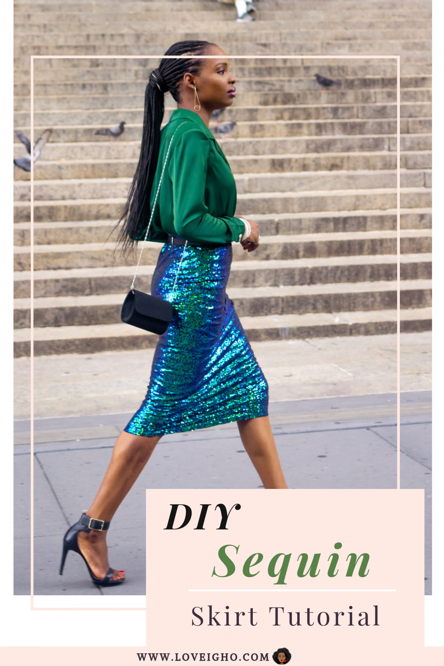 DIY Sequin Skirt Tutorial | Love Igho