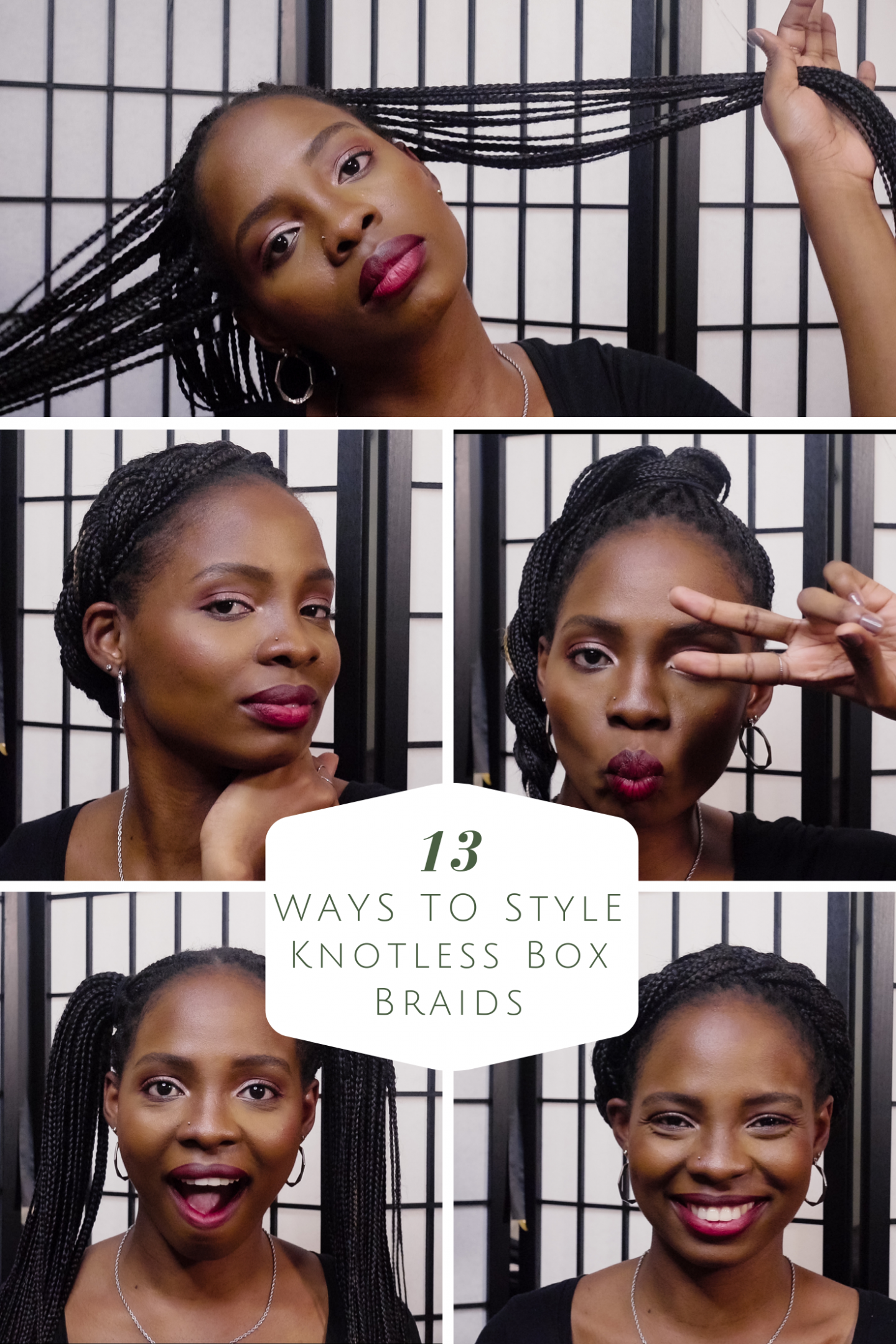 Styling Knotless Box Braids | Love Igho