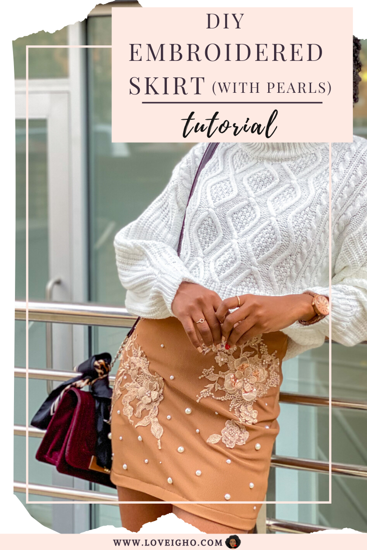 DIY Embroidered Skirt (with applique) | loveigho.com