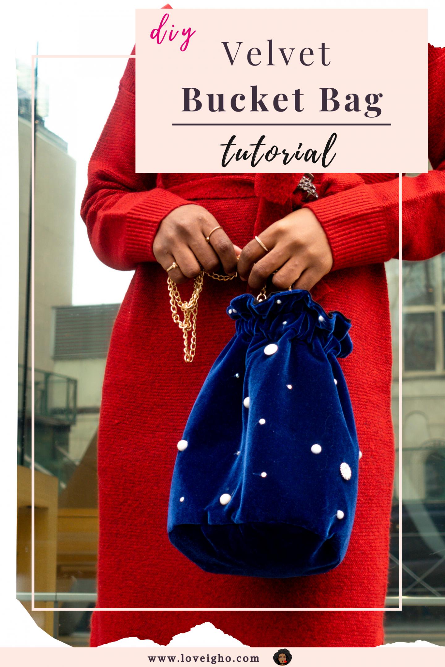 DIY Bucket Bag Tutorial   Love Igho