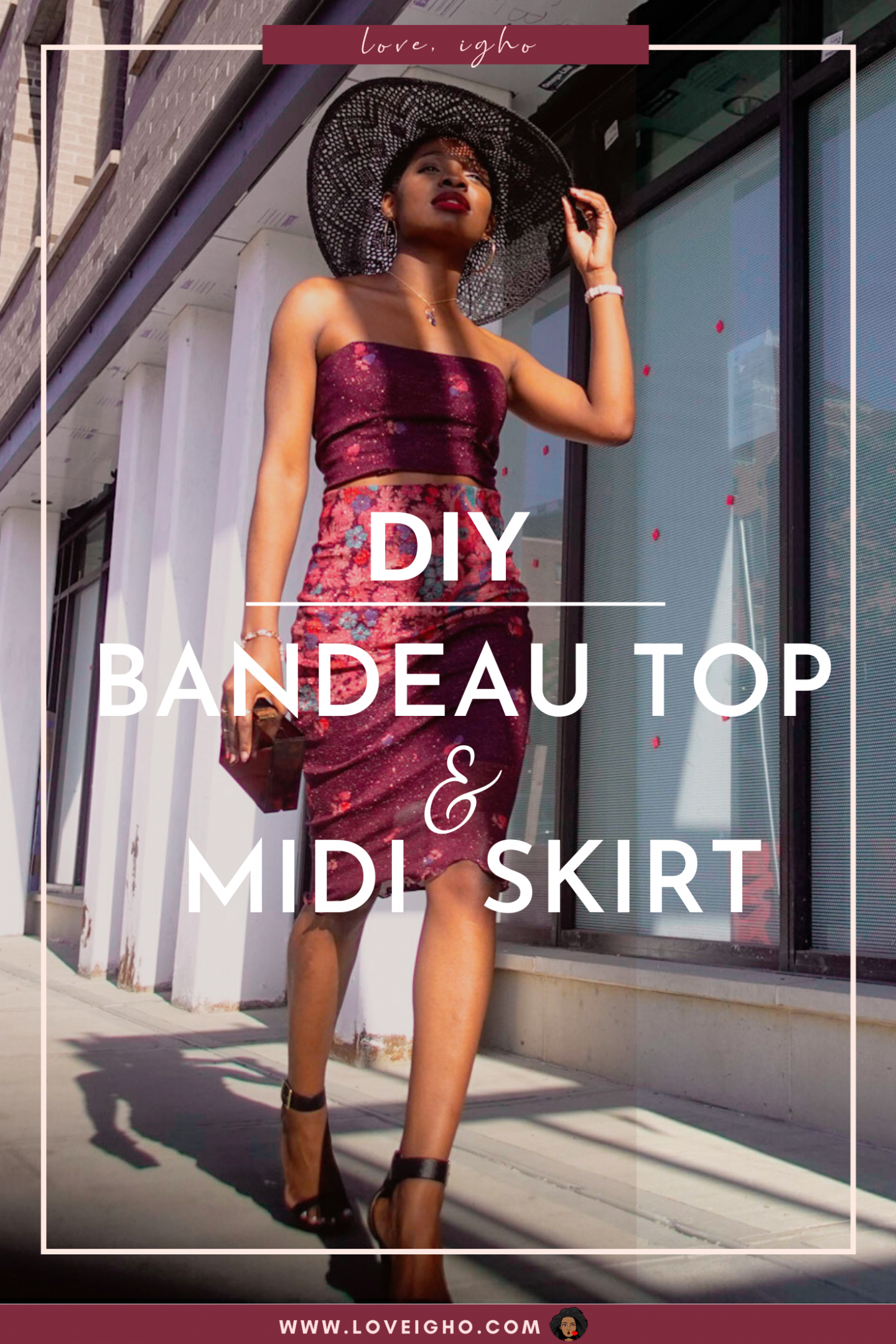 DIY Bandeau Top and Midi Skirt | Love Igho