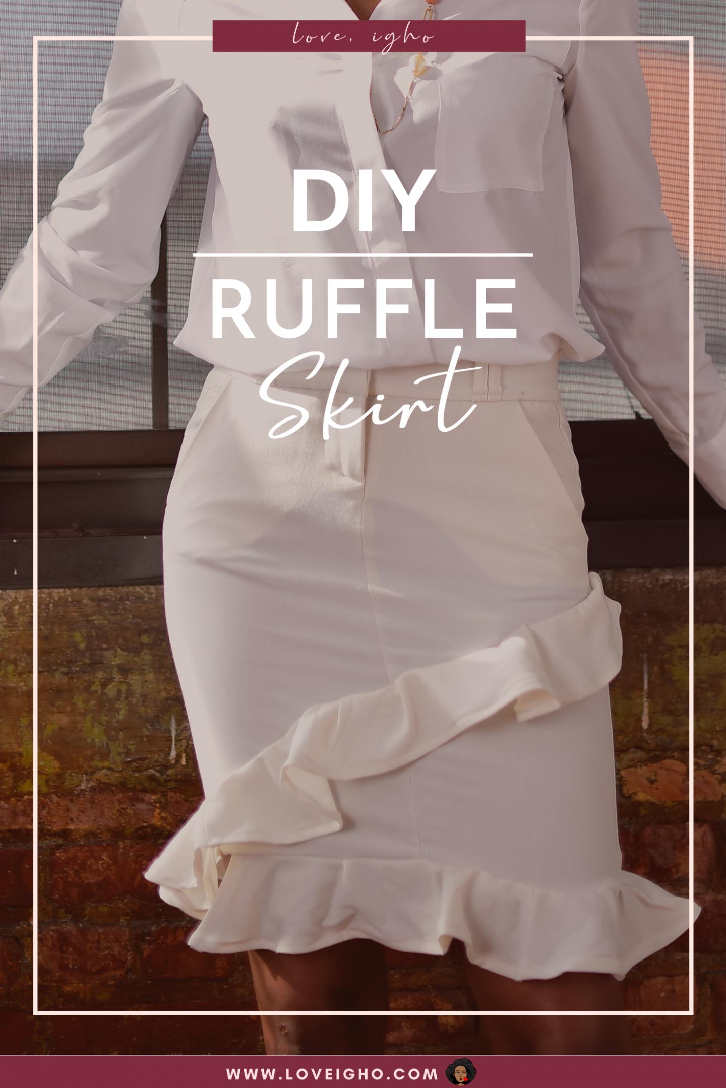 DIY Ruffle Skirt | Love Igho