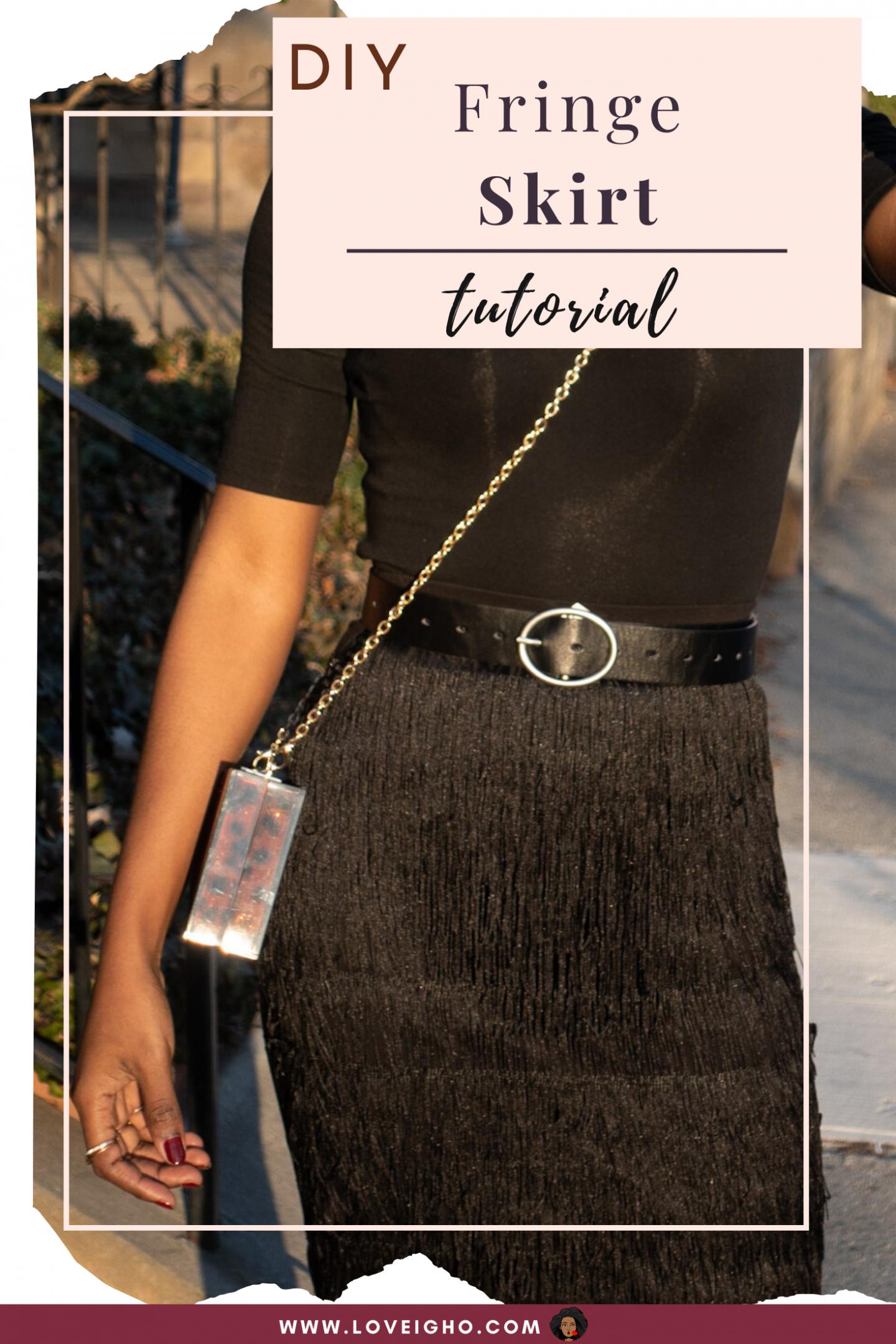 DIY Fringe Skirt | Love Igho