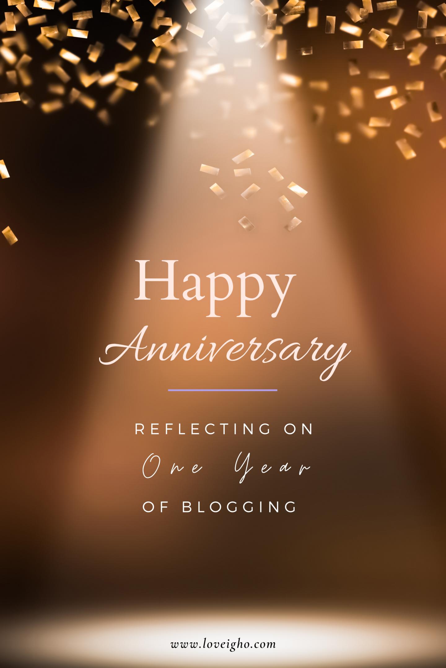 Blog Anniversary | Love Igho