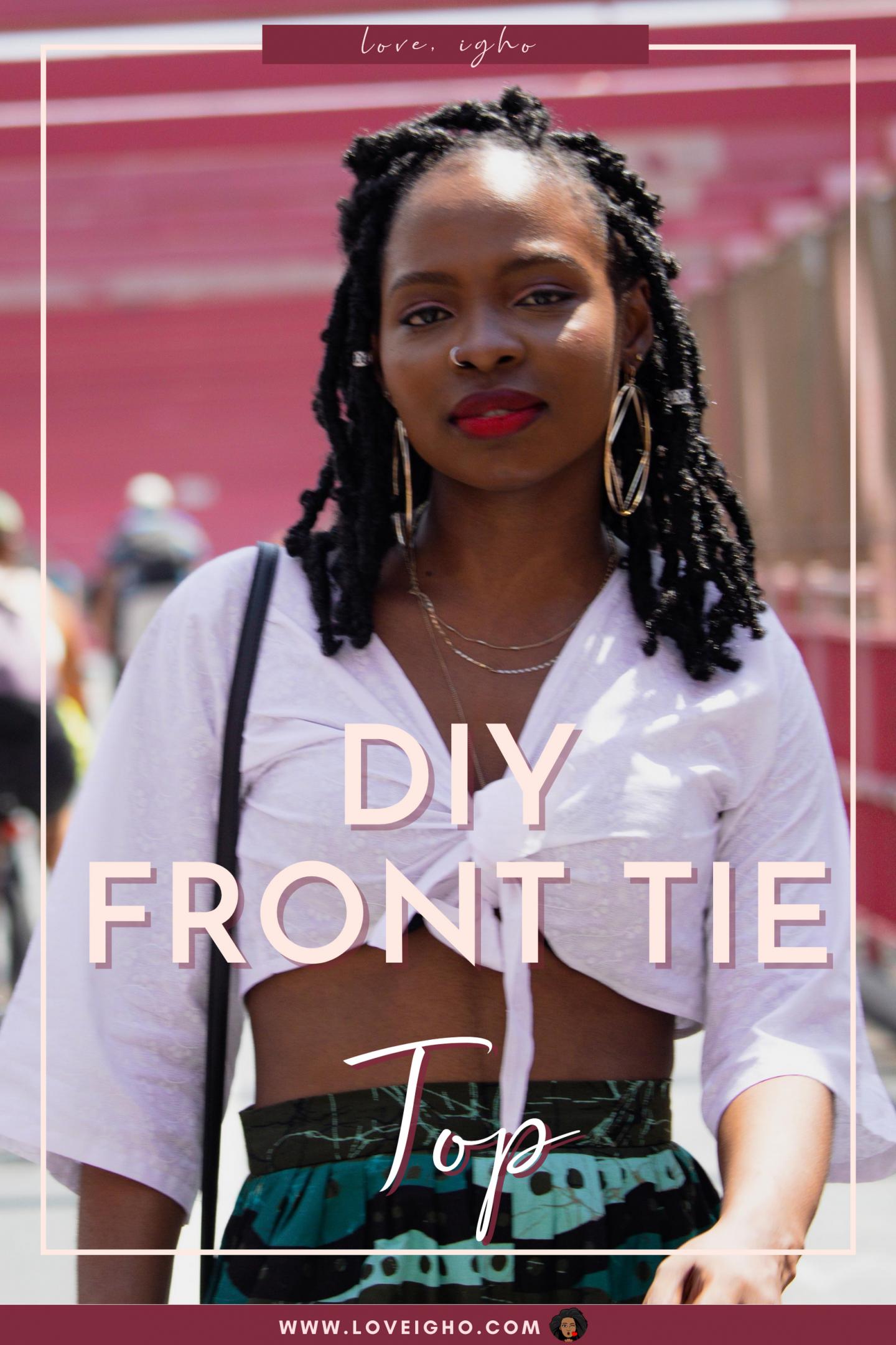 diy front tie top | love igho